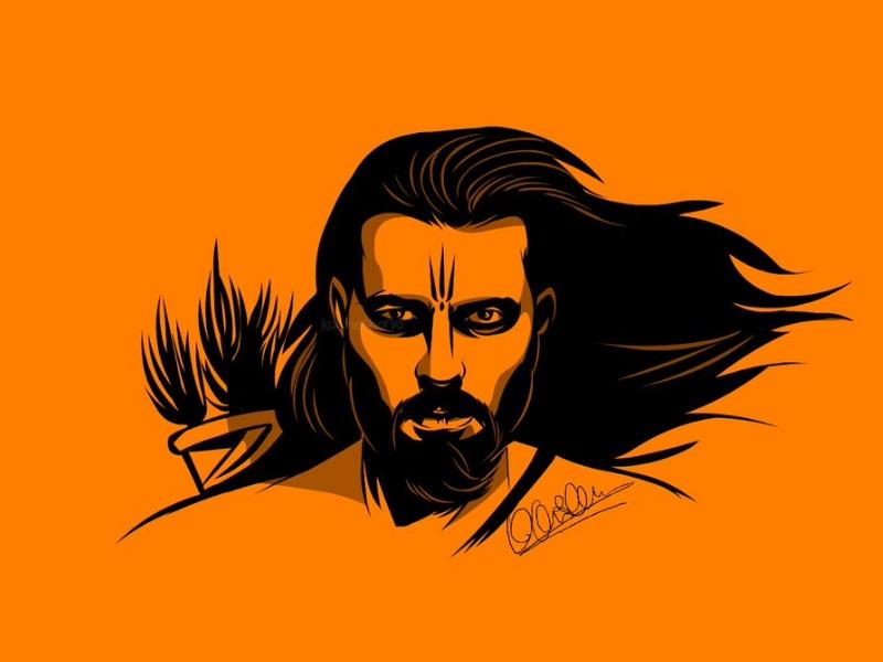 After Angry Hanuman Vector Artist Karan Acharya Creates Lord Rama Panting
