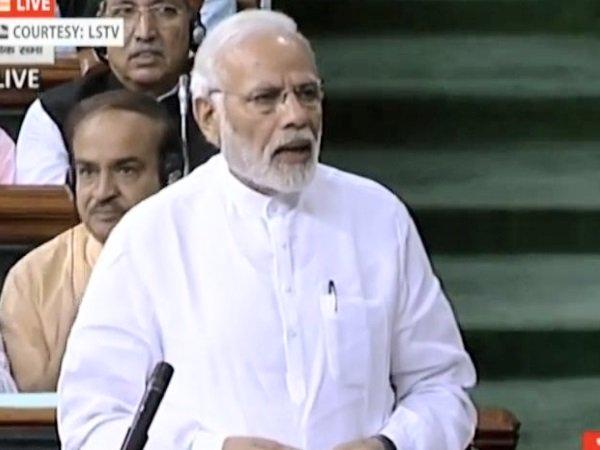 Pm Narendra Modi Speech On No Confidence Motion Lok Sabha Bj