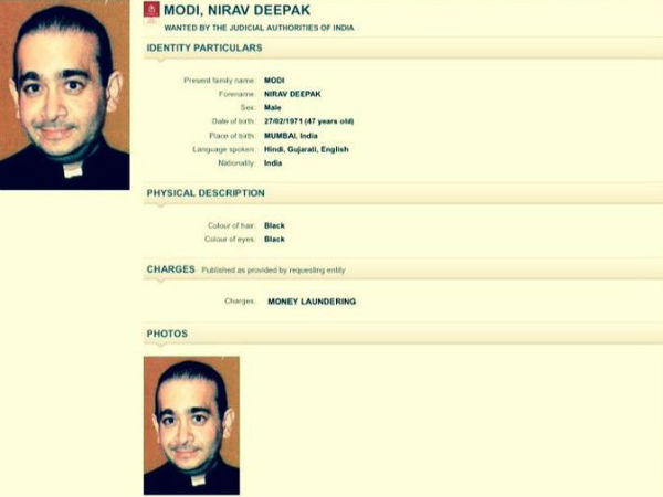 Red Corner Notice Issued Against Nirav Modi Interpol Connection Pnb Scam Case