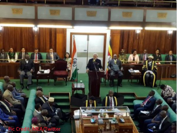 Pm Modi Addresses Uganda Parliament First India Do So