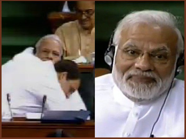 No Confidence Motion Rahul Gandhi Said I Can Be Pappu For You Then Walks To Pm Modi Gives Him Hug