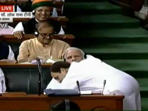 Rahul Gandhi Waited Months Before Famous Hug Parliament Sources