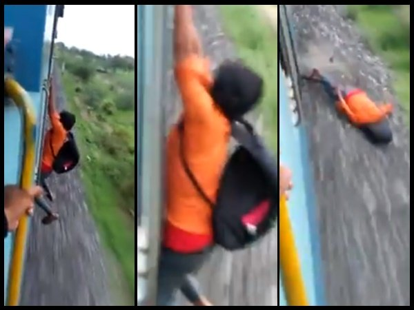 Viral Video A Young Boy Doing Stunt Hanging Train Horrifically Gone Wrong