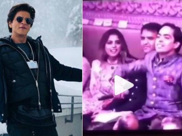 Actor Shahrukh Khan Was Seen Teasing Akash Ambani S Younger