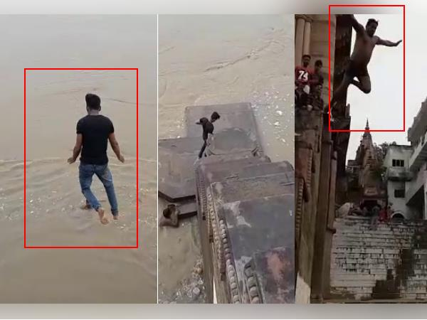 Mirzapur Boys Jumps From High Into Ganga