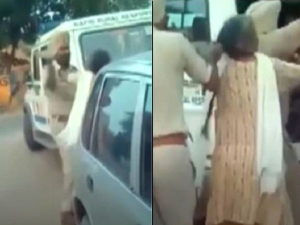 Punjab Policeman Thrashes Elderly Woman Drags Her Her Hair Publicly