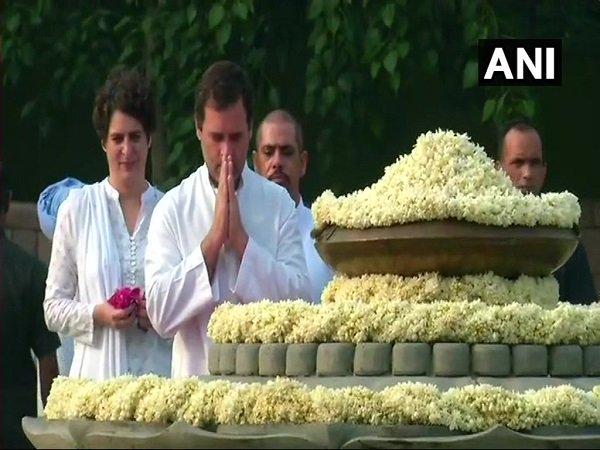 Rajiv Gandhi Birth Anniversary Sonia Gandhi Rahul Gandhi Pa