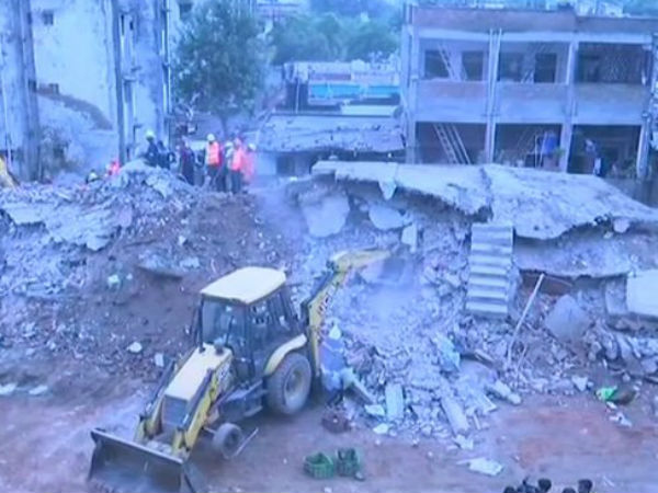 In Tragic Incident 4 Storey Building Reduced Rubble Gujarat