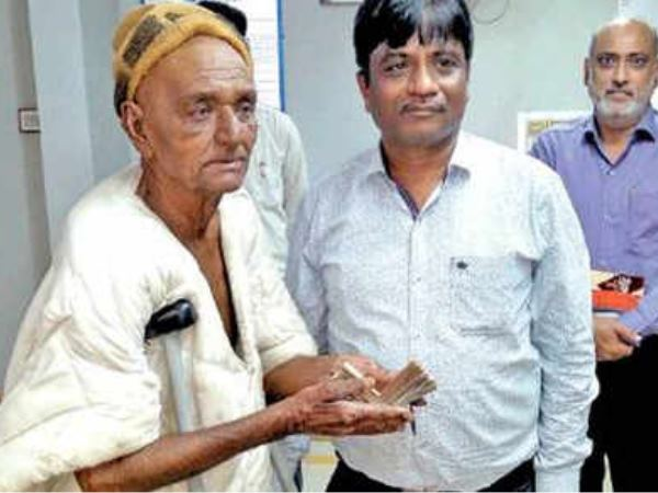 Year Old Beggar Suffering From Cancer Donated Five Thousand Rupees For Kerala Flood Victims