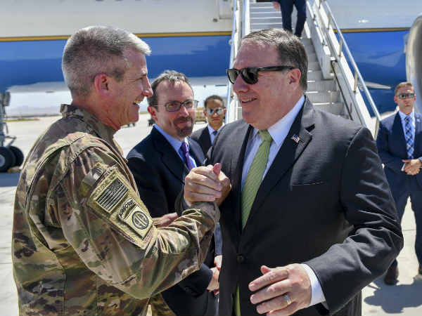 Us Secretary State Mike Pompeo Arrives Islamabad Pakistan Be