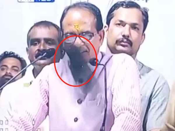 Karni Sena Claim They Hurled Shoe At Mp Cm Shivraj Singh Chouhan