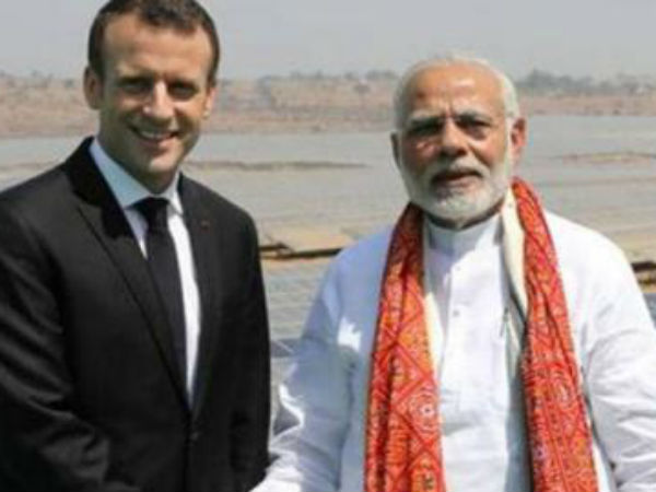 Prime Minister Narendra Modi French President Emmanuel Macro