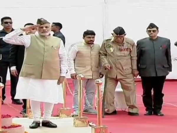 Pm Modi Hoist Tricolor At Red Form On 75th Anniversary Azad Hind Fauj