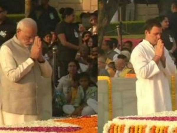 Pm Modi Rahul Gandhi Pays Tribute Mahatmagandhi At Rajghat