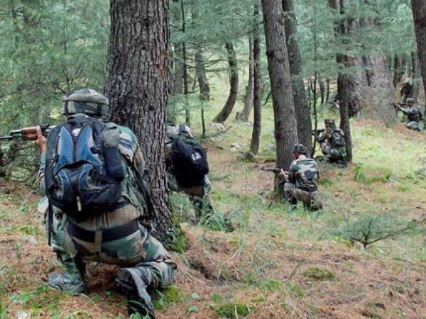 Jammuandkashmir An Encounter Underway Between Security Forces
