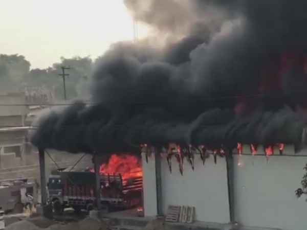 Fire Broke Out At A Chips Factory In Unnao
