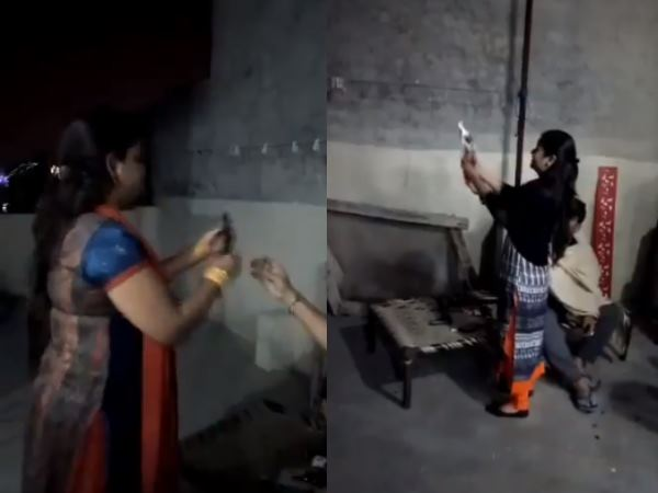 Noida Family Celebrates Diwali With Revolver Video Goes Viral