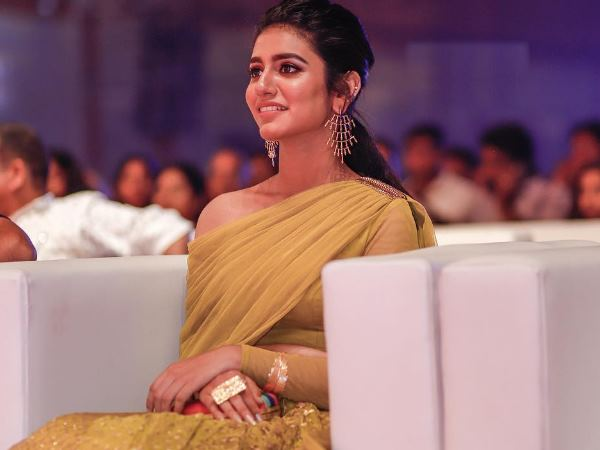Viral Winking Queen Priya Prakash Varrier Ethnic Wear Is