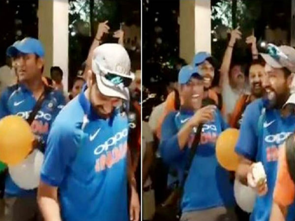 Ms Dhoni Pranks Rohit Sharma After Odi Series Win