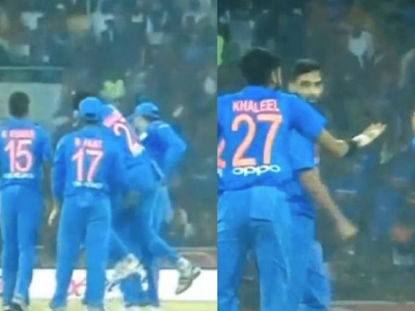 Khaleel Ahmed Hurted Rohit Sharma While Celebrating During 2nd T20 Match