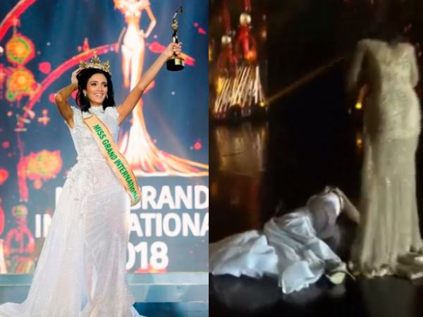 Video Miss Grand International 2018 Clara Sosa Fainted As H