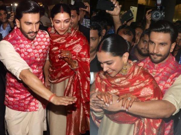 Deepveerwedding Ranveer Singh Is Protective Hubby Wraps A