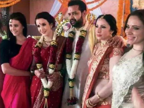 Rahul Mahajan Ties The Knot With Kazakhstan S Model Natalya Lina Private Ceremony