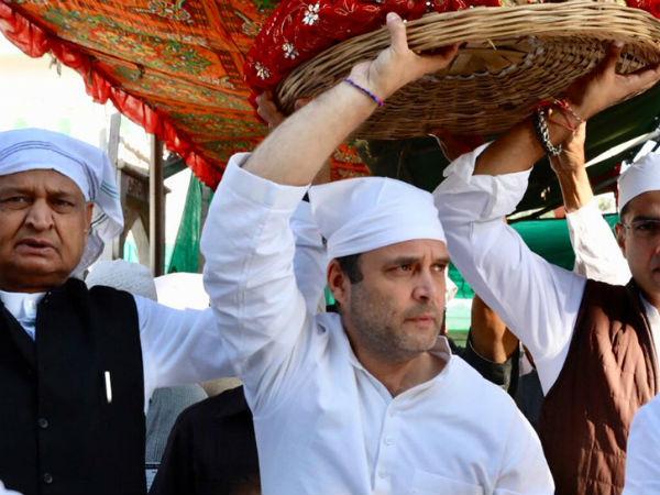 Congress President Rahul Gandhi Visited The Dargah Sufi Saint Ajmer Sharif