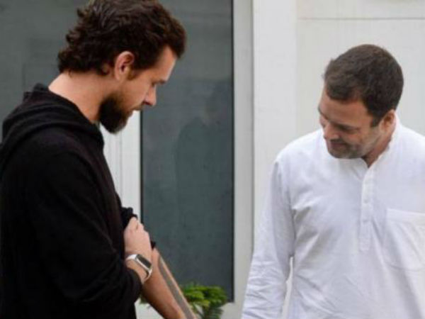 Congress Chief Rahul Gandhi Today Met Twitter Co Founder Ceo