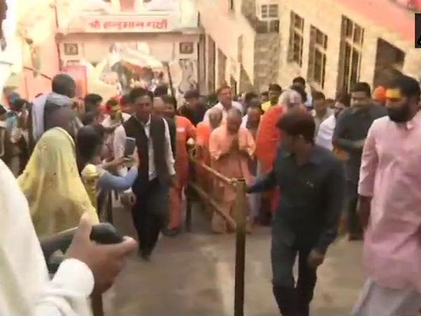 Yogi Adityanath Visits Ram Lala Hanumangarhi After Mega Event In Ayodhya