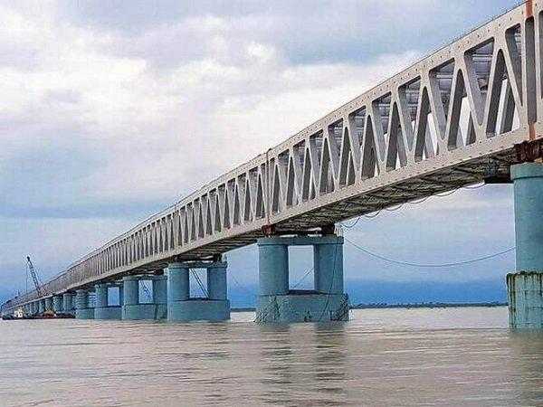 Pm Narendra Modi Inaugurate Bogibeel India S Largest Rail C