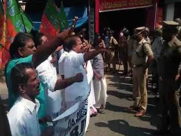 Bjp Hartal Kerala Begins After Man Burnt Alive Himself Death