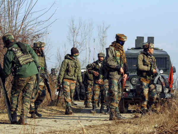 Jammu Kashmir Encounter Underway Between Terrorists Security Forces Tral Pulwama