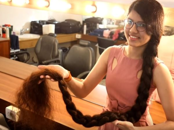 Real Life Rapunzel 16 Year Old Nilanshi Patel Makes World Record For 5 Foot 7 Inch Hair