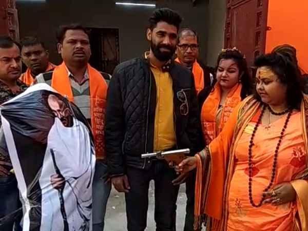 Aligarh Hindu Mahasabha Enacted Nathuram Godse S Assassination Of Mahatma Gandhi Two Arrested