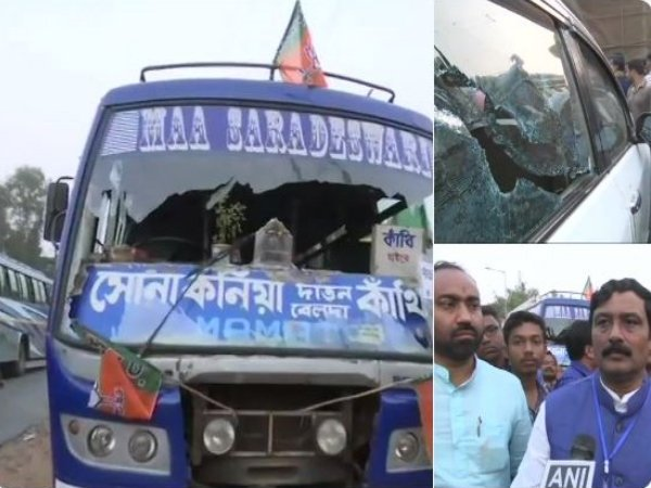 West Bengal Vehicles Vandalize In Amit Shah S Rally Bjp Slams Tmc