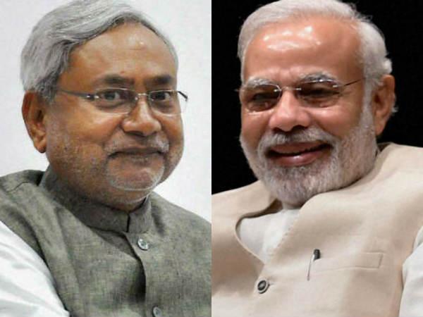Narendra Modi Nitish Kumar Share Stage Bihar Ahead Loksabha