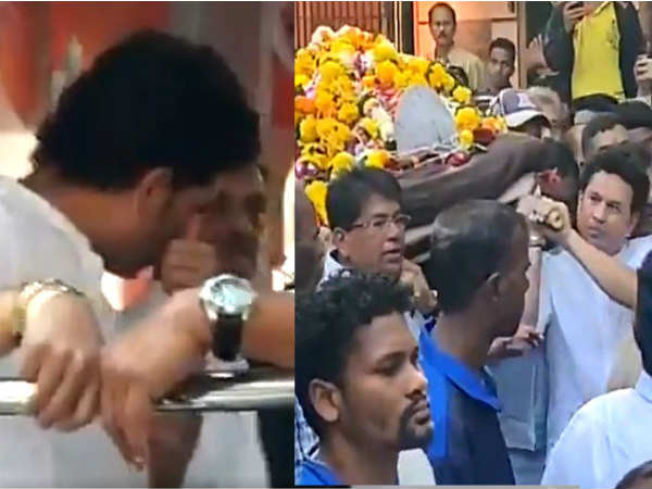 Sachin Tendulkar Cried At The Ramakant Achrekar Funeral See Video