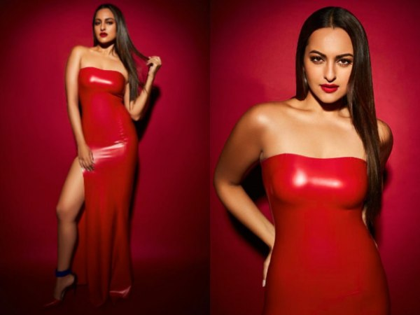 Sexy Pictures Of Actress Sonakshi Sinha In Red Hot Dress Is Going Viral