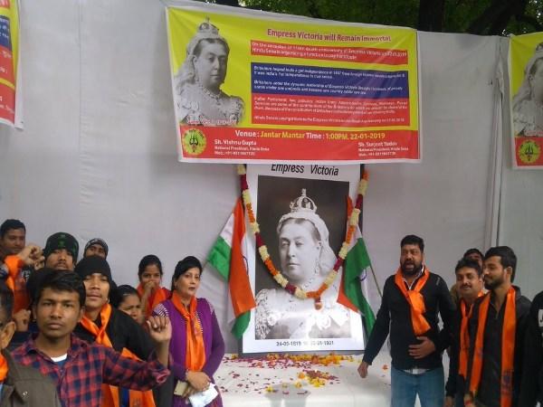 Hindu Sena Pays Tributes Queen Victoria On Death Anniversary