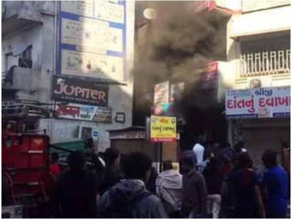 Ahmedabad Thermocol Godown Near Jivraj Park Catches Fire