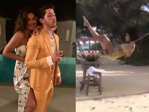 Nick Jonas Priyanka Chopra Seen Having Fun At Caribbean