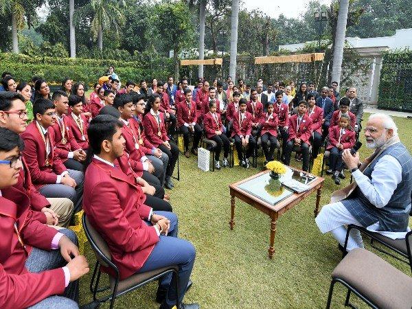 Pm Narendra Modi Interacts With Winners Rashtriya Bal Puraskar