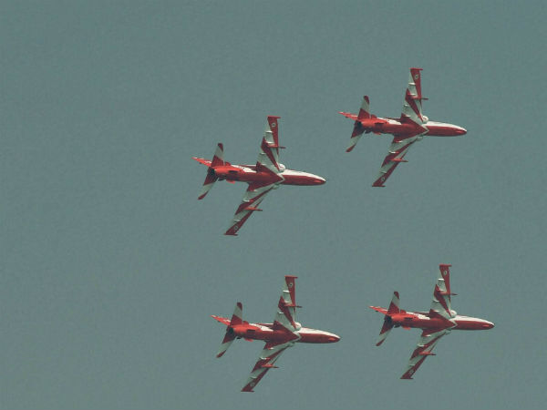 Watch Horrible Video Surya Kiran Acrobatics Team Aircraft Coming Down Aero India