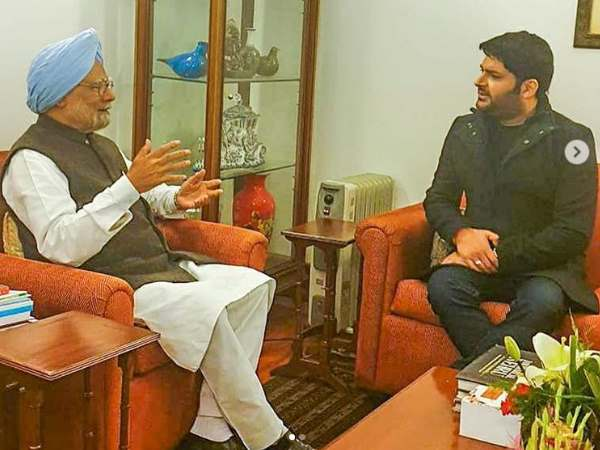 Actor Comedian Kapil Sharma Met Former Pm Manmohan Singh