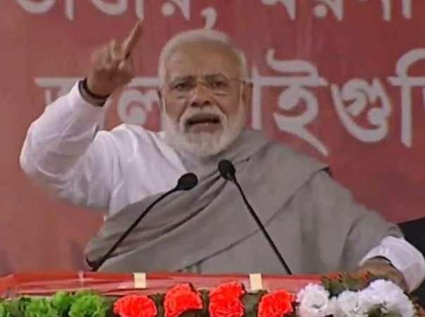 Pm Narendra Modi Target Mamata Banerjee Govt Jalpaiguri West Bengal