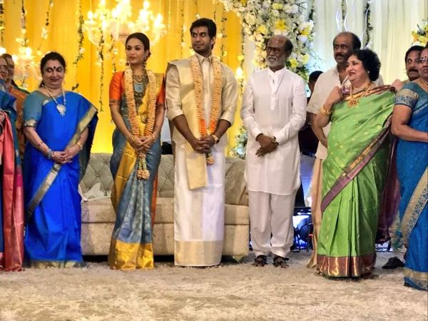 Soundarya Rajnikanth Vishagan Vanangamudi Gave Pre Wedding Reception Photo Viral