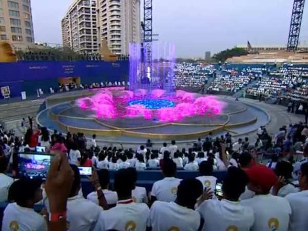 Inaugural Musical Fountain Shows At Dhirubhai Ambani Square For Armed Forces And Police