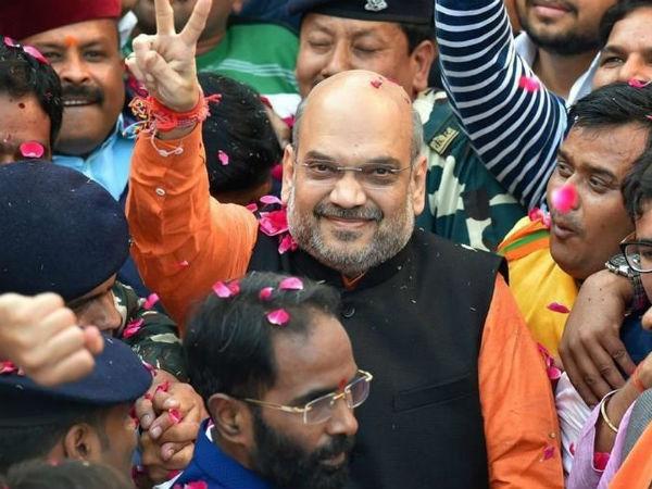 Ahmedabad Amit Shah Started Huge Roadshow While Filling Nomination