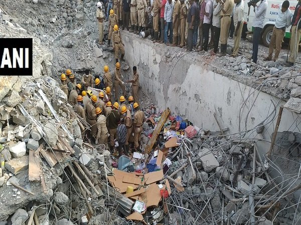 Karnataka Dharwad Building Collapse Man Rescued From Site